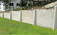 Concrete retaining walls in the Hudson Valley